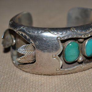 Vintage DA JIM Offset Watch Cuff Sterling Bracelet